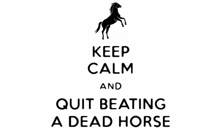 Image result for beating a dead horse