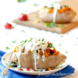 Loaded Sweet Potatoes | Jennifer's Kitchen