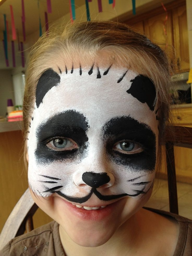 easy animal face paint face painting animal panda birthday
