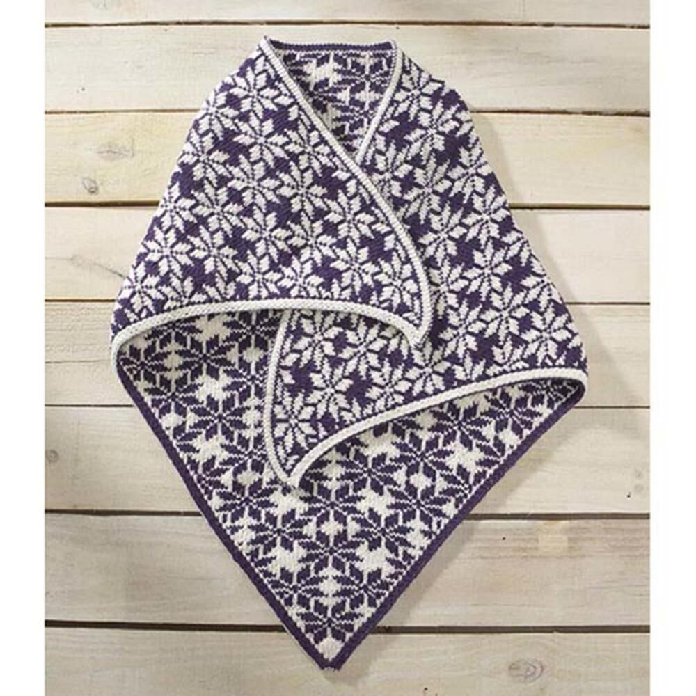 Norwegian Snowflake Shawl Knit Pattern | Double knitting ...