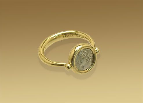 45148a5395c Bulgari MEDITERRANEAN EDEN ring in 18kt yellow gold with antique coin.  AN008814 ( 500-5000) - Svpply