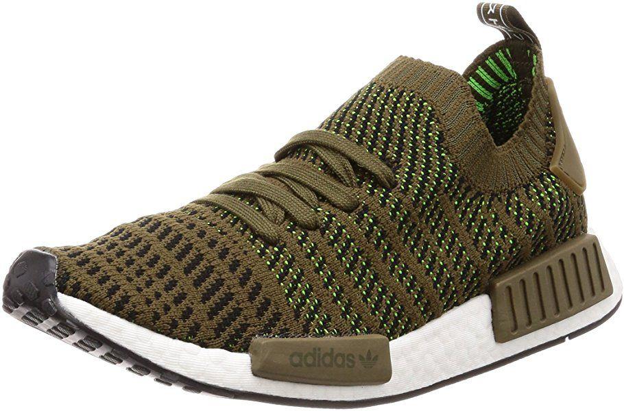 adidas Herren NMD_R1 Stlt Primeknit Sneaker, Grün (Trace