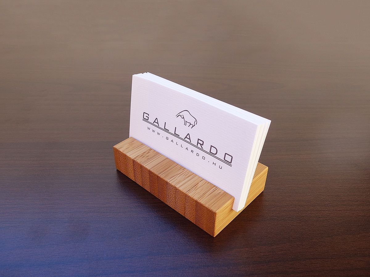 Wood Business Card Holders from Choco Bamboo. | Wood Business Card ...