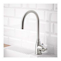 IKEA - ELVERDAM, Mitigeur,  , , Garantie 10 ans gratuite. Détails des conditions disponibles en magasin ou sur internet.Ce mitigeur est doté d'un mécanisme qui réduit le débit sans modifier la pression, permettant ainsi une économie d'eau et d'énergie.La cartouche du mitigeur est dotée de disques céramiques solides qui résistent à la friction qui se produit lorsqu'on règle la température de l'eau.Le débit d'eau peut être réglé à l'avance.Le bec hau...