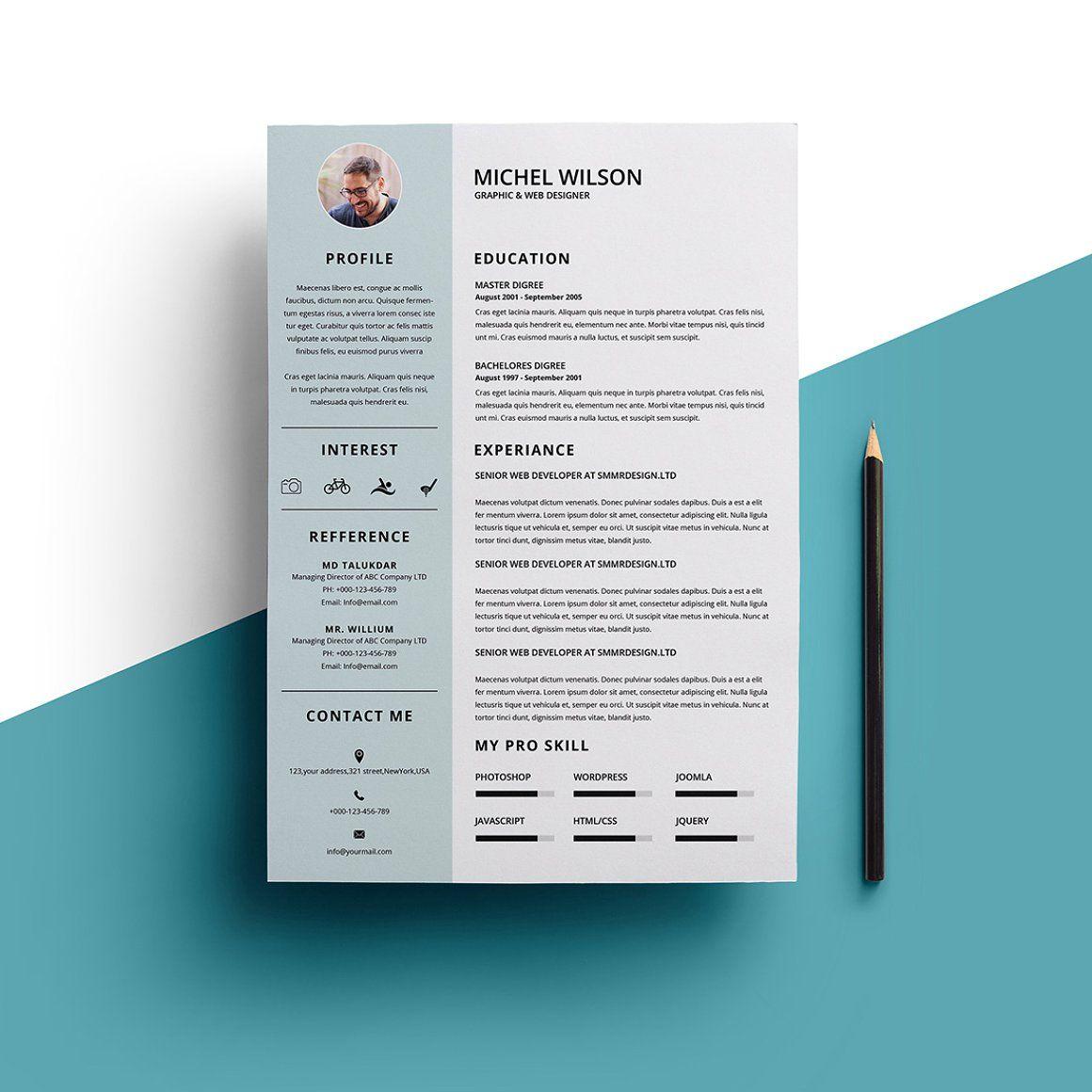 minimal resume - resumes   resumes   pinterest   resume, resume