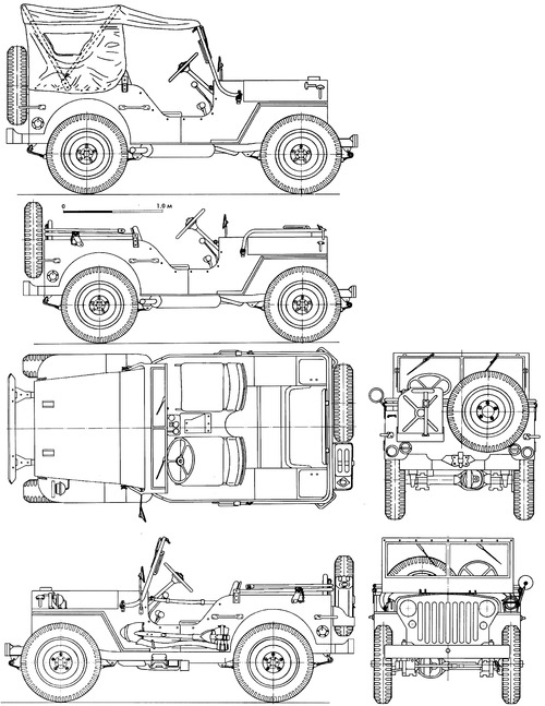 Blueprints Cars Willys Willys Jeep Mb With Images