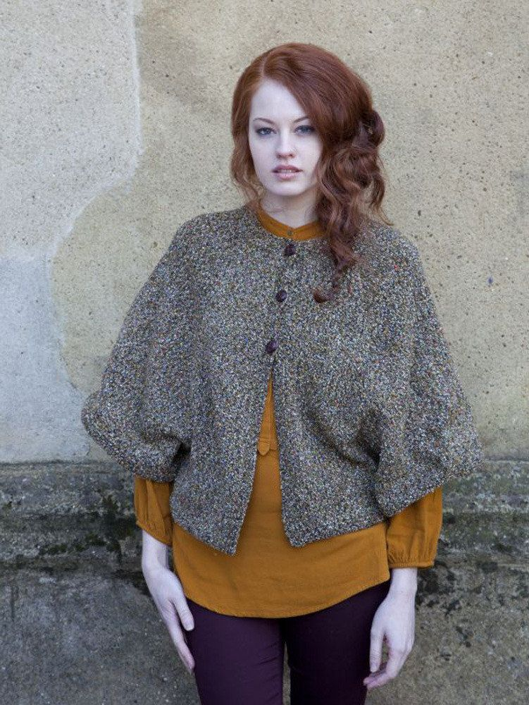 Cardigan Cape In Debbie Bliss Milano Discover More Patterns By