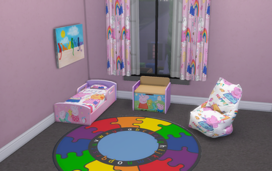 Terrific Ts4 Peppa Pig Bedroom A Simple Recolour Of The Sims 4 Interior Design Ideas Tzicisoteloinfo