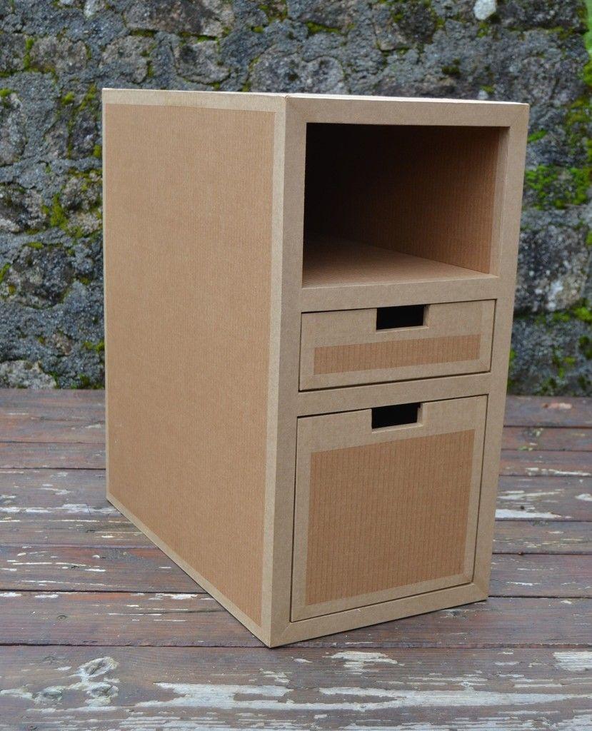 Bloc Tiroirs Profonds Meuble En Carton Mobilier De Salon Rangement Carton