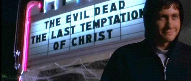 Donnie Darko 2001 One Of My Favorite Scenes Due To The Evil Dead Reference Donnie Darko Donnie Darko Movie Movies
