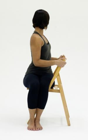 10 yoga poses you can do in a chair  chair yoga yoga