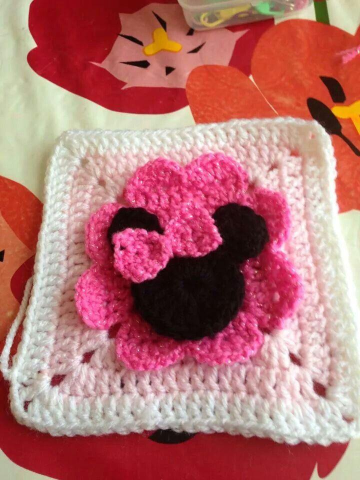 Mini Mouse Square | Craft Ideas | Pinterest | Stricken häkeln ...