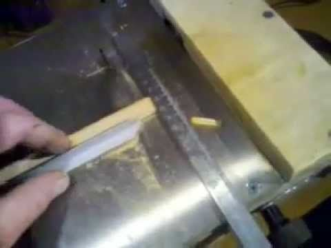 Mini o micro sierra de banco casera homemade micro table - Sierra de banco ...