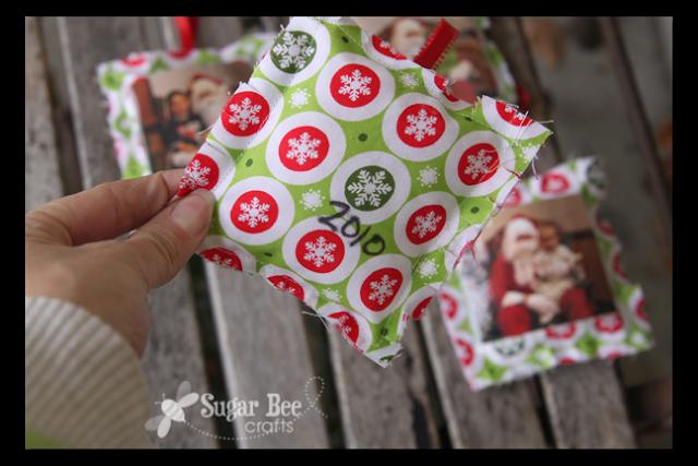 Easy Photo Ornaments - Sugar Bee Crafts