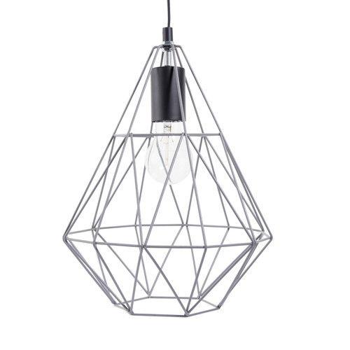 suspension filaire en m tal grise h 32 cm trendy grey. Black Bedroom Furniture Sets. Home Design Ideas