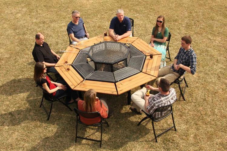 20 Modern Outdoor Accessories For A Perfect Summer Experience Bbq Table Outdoor Fire Pit Fire Pit Grill Table