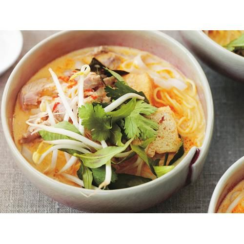 Chicken laksa recipe laksa food chicken laksa recipe spicy chicken noodle soup forumfinder