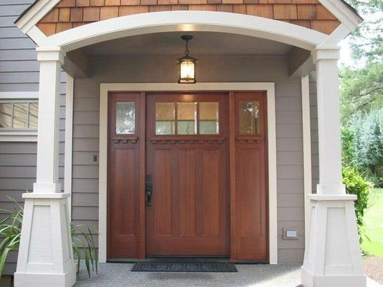 Craftsman Style Door And Columnslove By Hanora Farm House