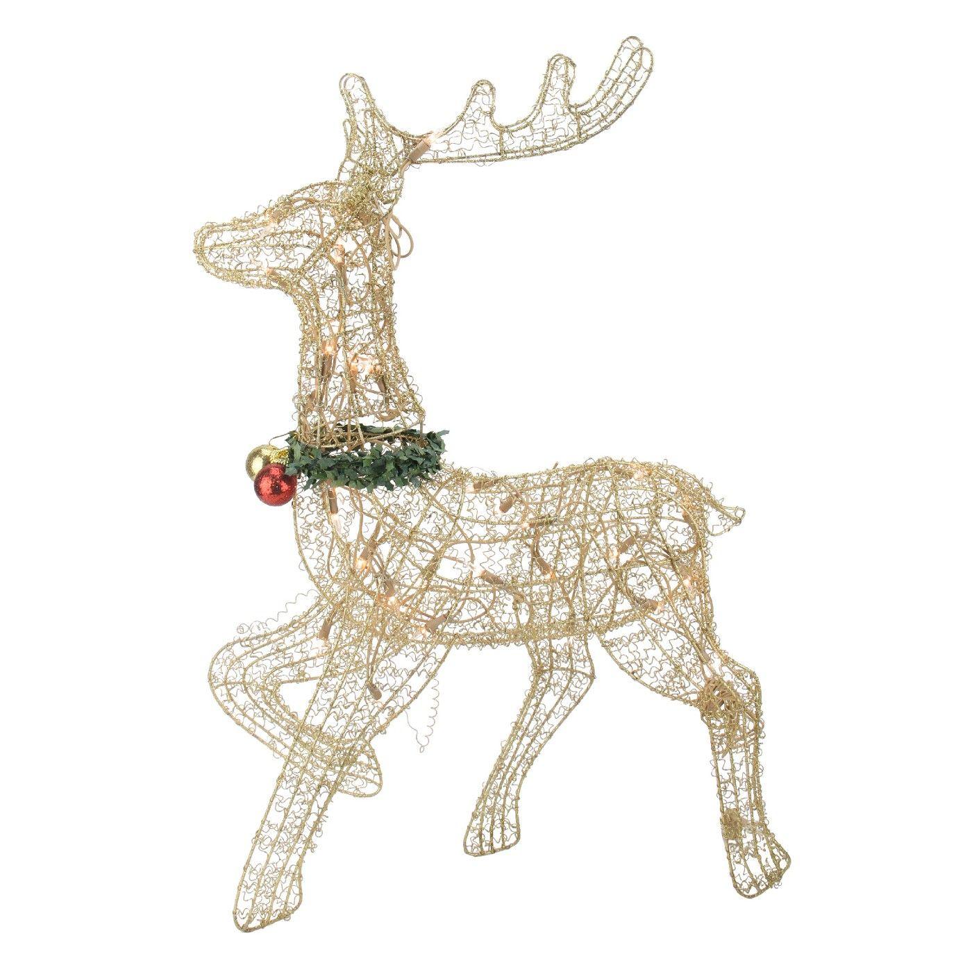 Northlight 25 Gold Lighted Prancing Reindeer Outdoor Christmas Decor Outdoor Christmas Decorations Outdoor Christmas Reindeer Lights