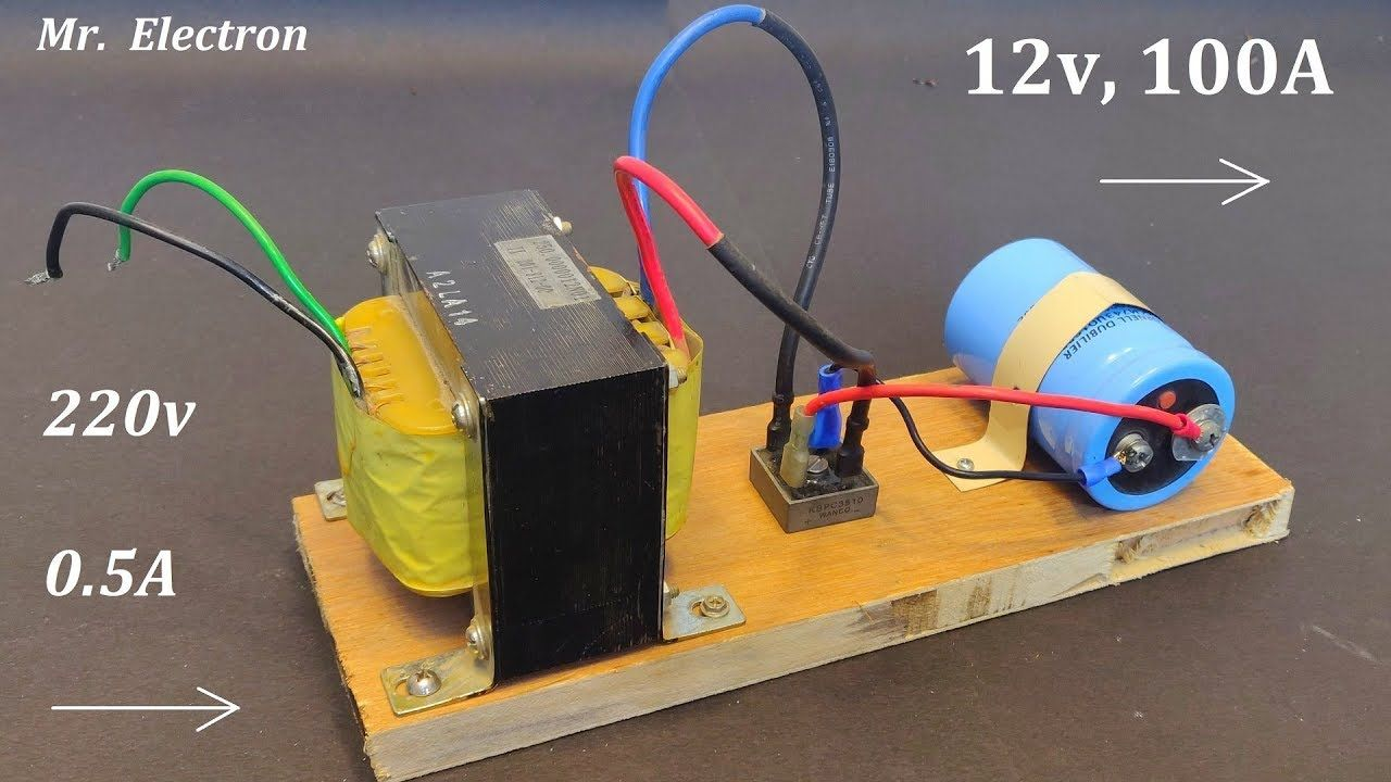 12v 100a Dc From 220v Ac For High Current Dc Motor Power Supply From Ups Transformer Youtube Power Supply Electrical Wire Connectors Electronics Basics