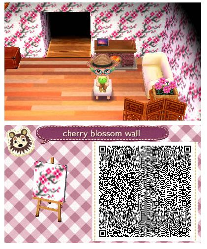 Cherry Blossom Wall By Quirkberry Animal Crossing New