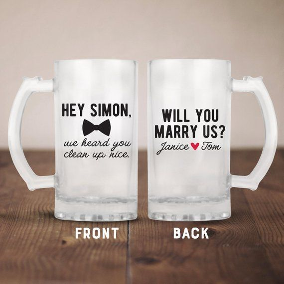 Wedding Officiant Beer Mug Wedding Officiant Gift Idea Gift For