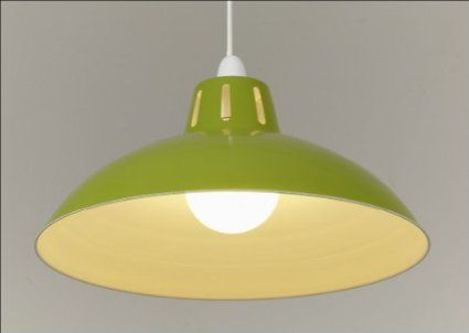 17 green retro large metal coolie glossy lampshade ceiling pendant modern light fitting amazon