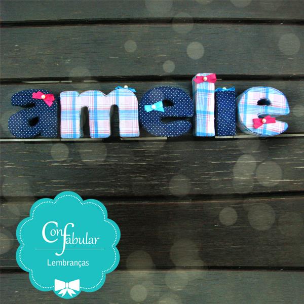 Letras decorativas em cartonagem e forração em tecido. Para decoração de festa, decoração de quarto de bebe e quarto de criança.