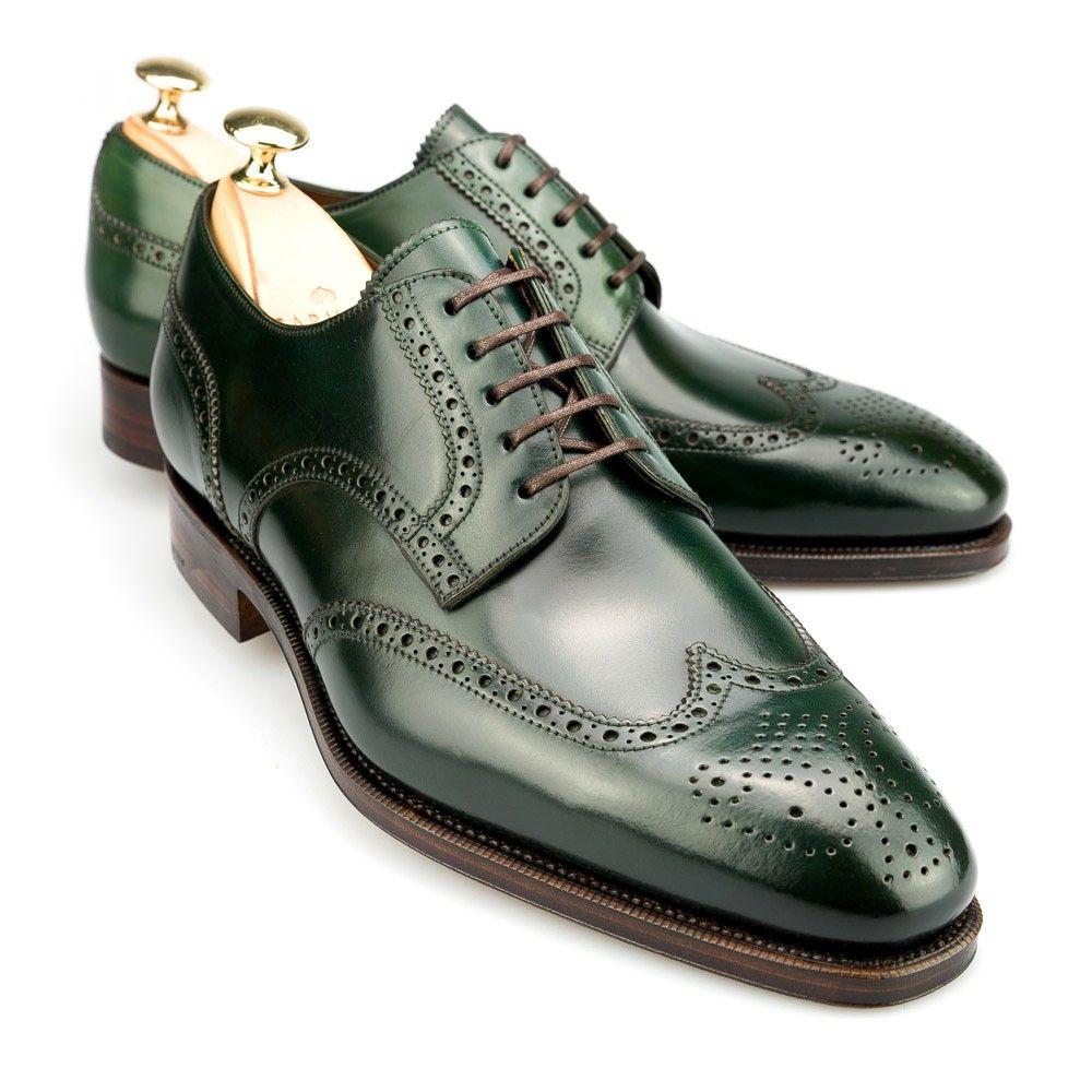 Carmina Oxford in green Shell Cordovan (The Black Shoe Blog)