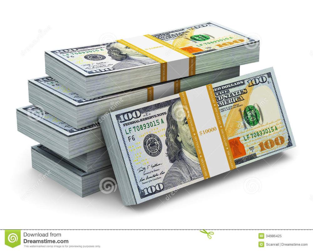 Stacks Of New 100 Us Dollar Banknotes Stock Illustration Illustration Of Credit 2013 34986425 Bank Notes Money Concepts Us Dollars