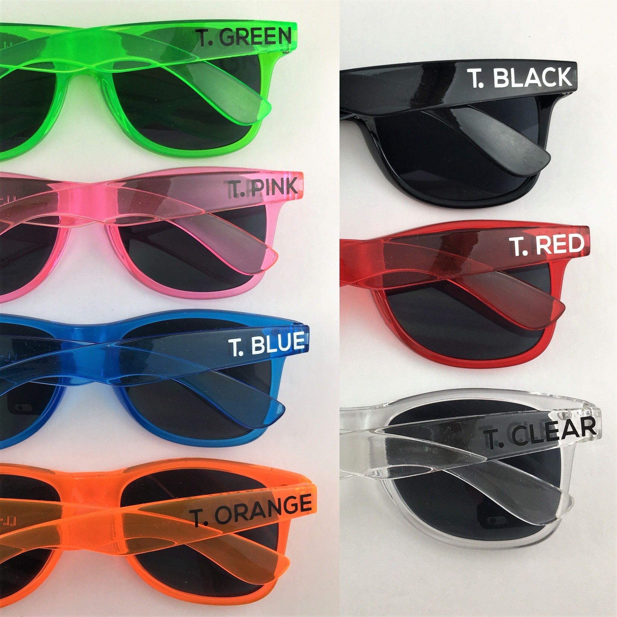 98c34fb7eb Transparent Personalized Sunglasses