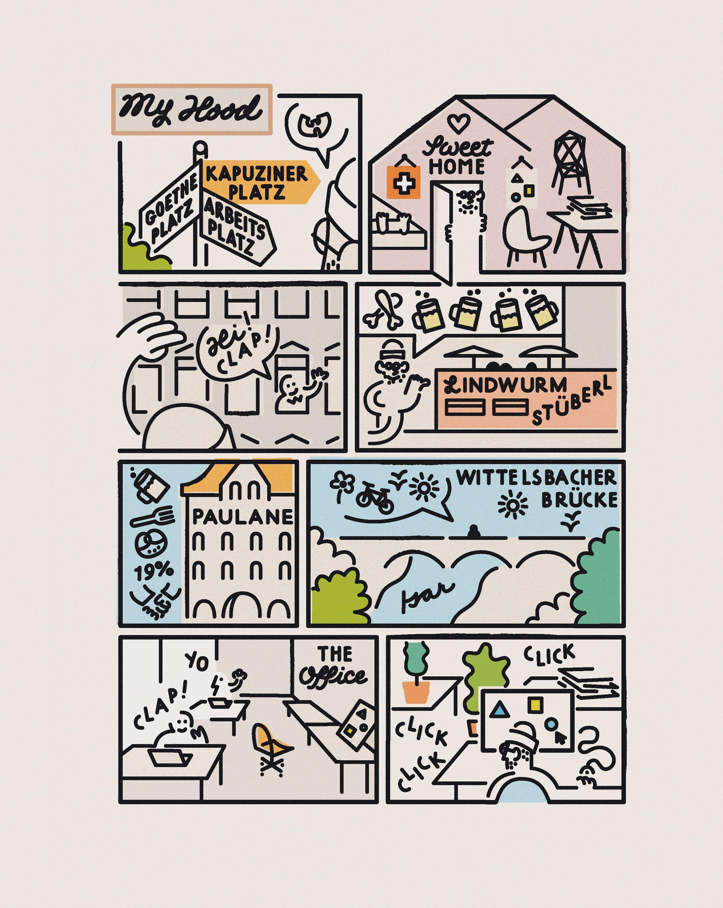 Grafik von Alexis Zurflüh