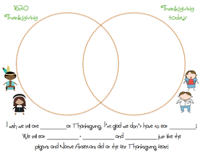 Thanksgiving Venn Diagram For Kindergarten Wiring Circuit