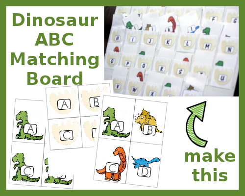 Dinosaur ABC Matching Activity | Free printables, Activities and ...