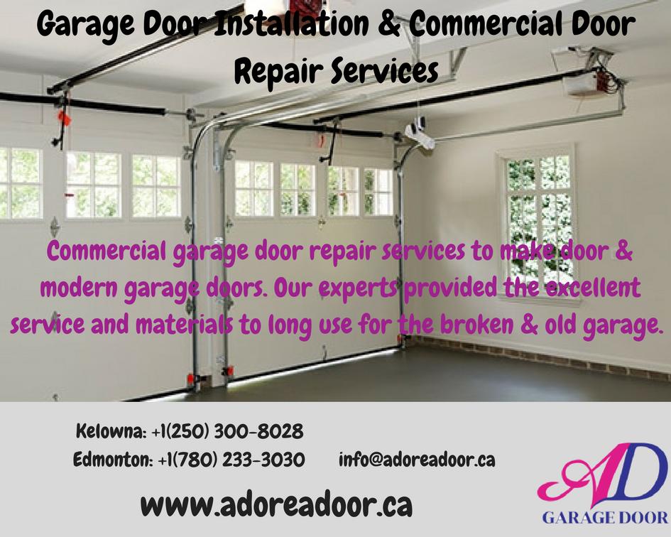 Commercial Garage Door Repair Services To Make Door Modern Garage Doors Our Experts Provid Garage Door Repair Service Garage Door Repair Garage Service Door