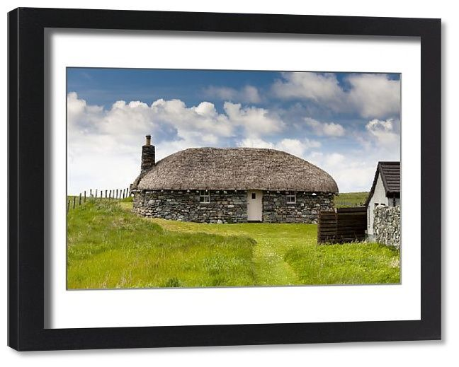 Print of Borvemor Blackhouse, Isle of Harris, Outer Hebrides, Scotland