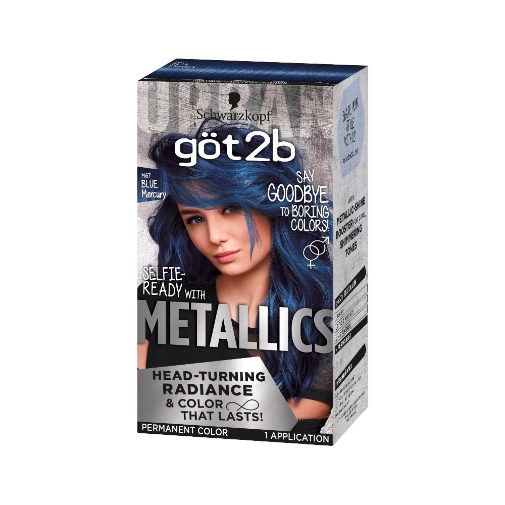 Got2b Color Metallic Blue Mercury 1 Kit Permanent Hair Color Blue Mercury Hair Color