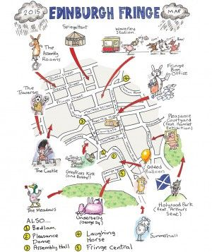 Edinburgh Fringe Map Edinburgh Festival Fringe 2015 venue guide   Edinburgh   Edinburgh