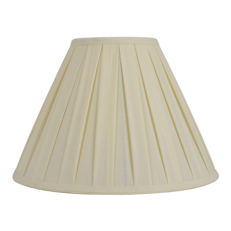 Allen Roth 12 5 In X 17 In Cream Fabric Cone Lamp Shade Small