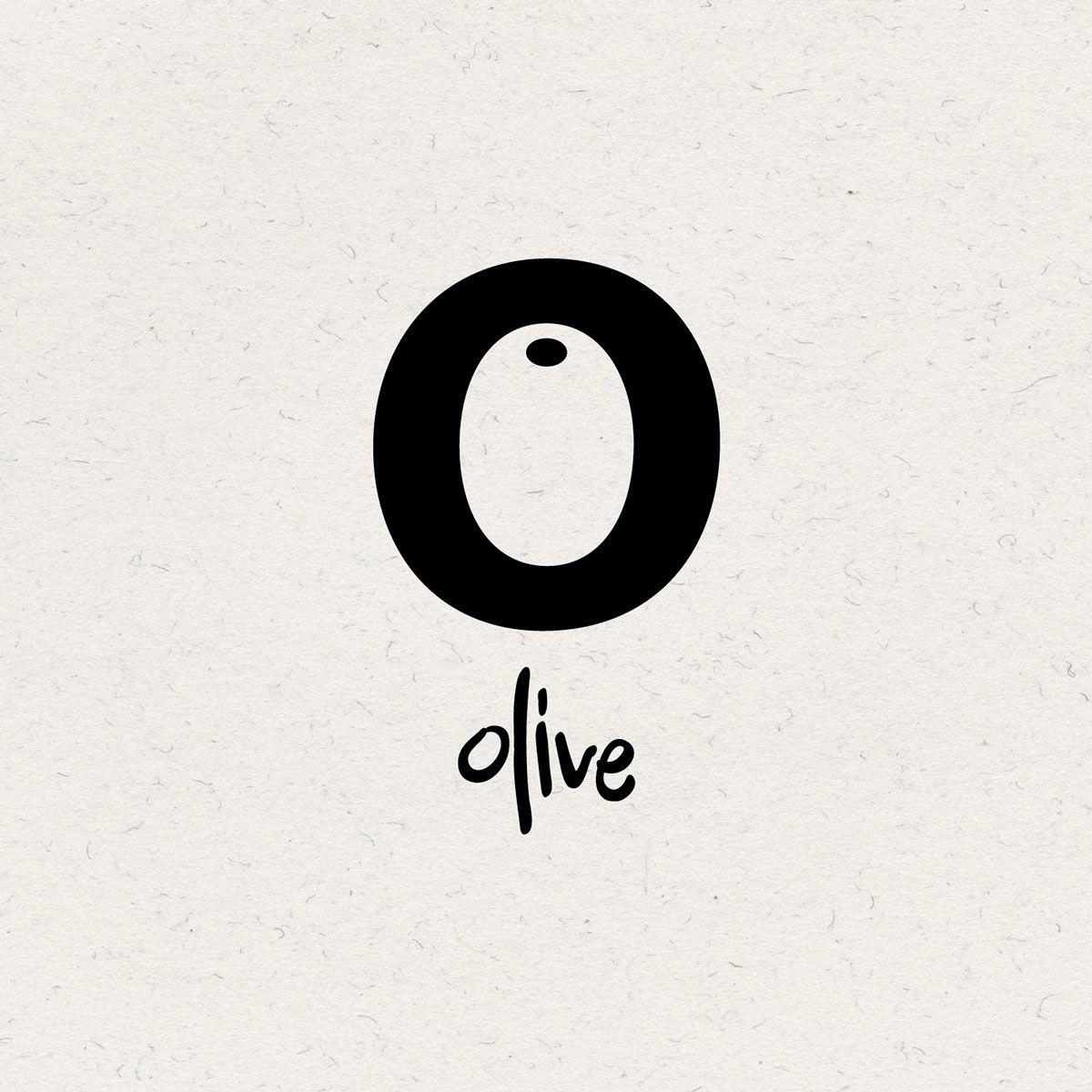i like the font on the olive inside the o. the 'o' itself