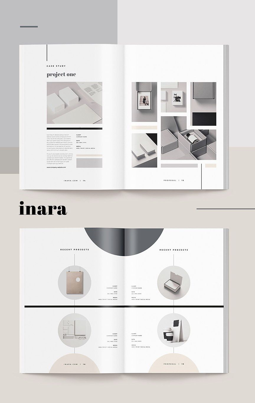 Proposal Inara Catalog design layout, Portfolio design