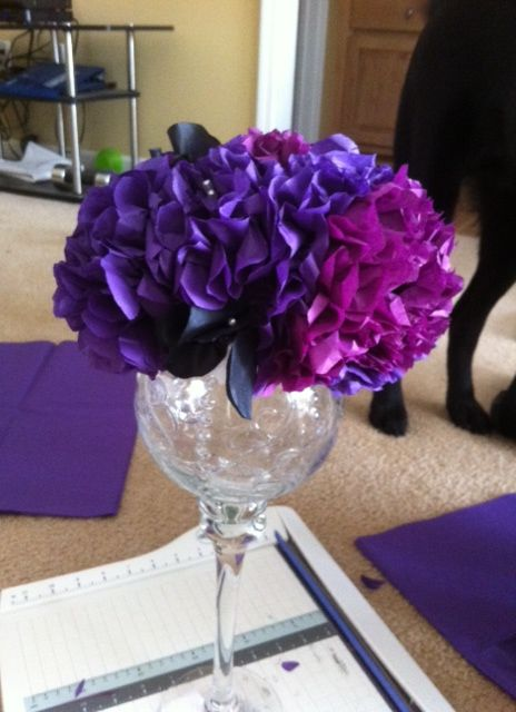Diy Tissue Paper Centerpiece Tutorial Included Now Wedding Black Flowers