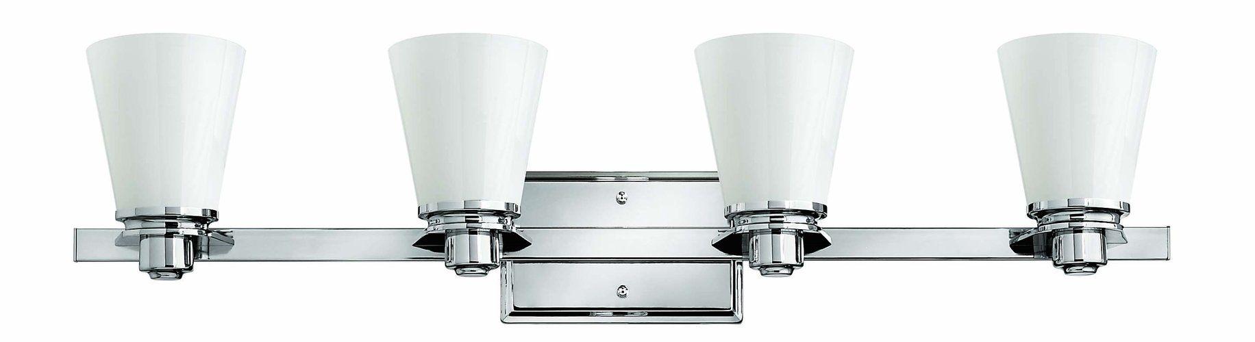 Chrome Bathroom Lighting Collections | Hinkley Lighting 5556cm Chrome Avon  48 Modern 6 Light Bathroom Fixture