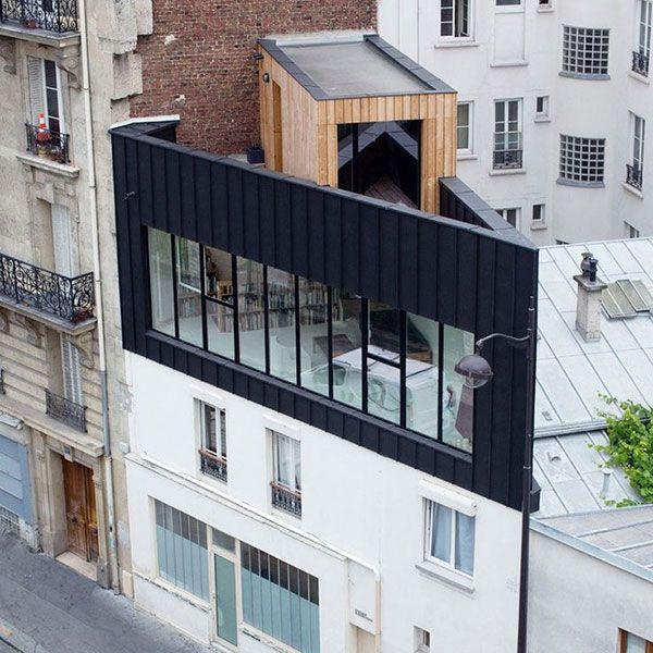 exemples surelevation 04 600x600 kraft architecture pinterest exemple extension et. Black Bedroom Furniture Sets. Home Design Ideas