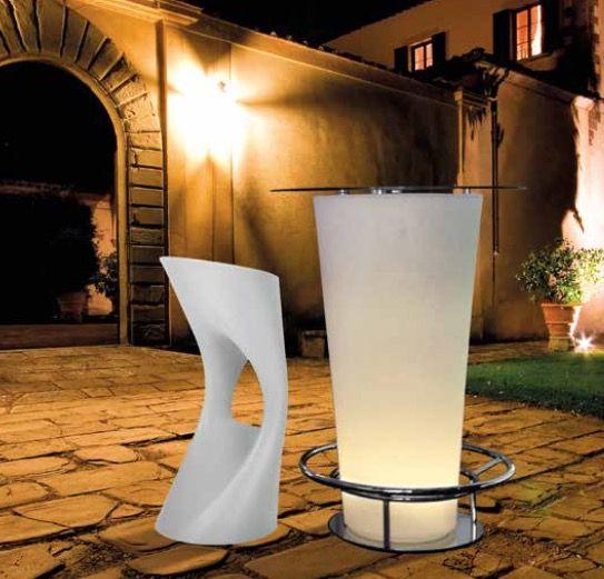 Asiento Silla Con Luz Interior Para Exteriores Jardin Jardines - Iluminacion-para-exteriores-jardines