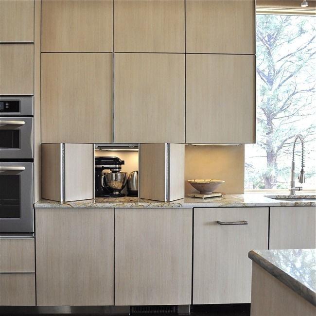 Elektrogeräte Küchenzeile Holz Verstecken Kaffeemaschine
