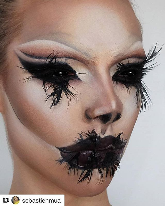 So dope! 👏🏻 Got us excited for Halloween a month early like ahhh - halloween horror makeup ideas