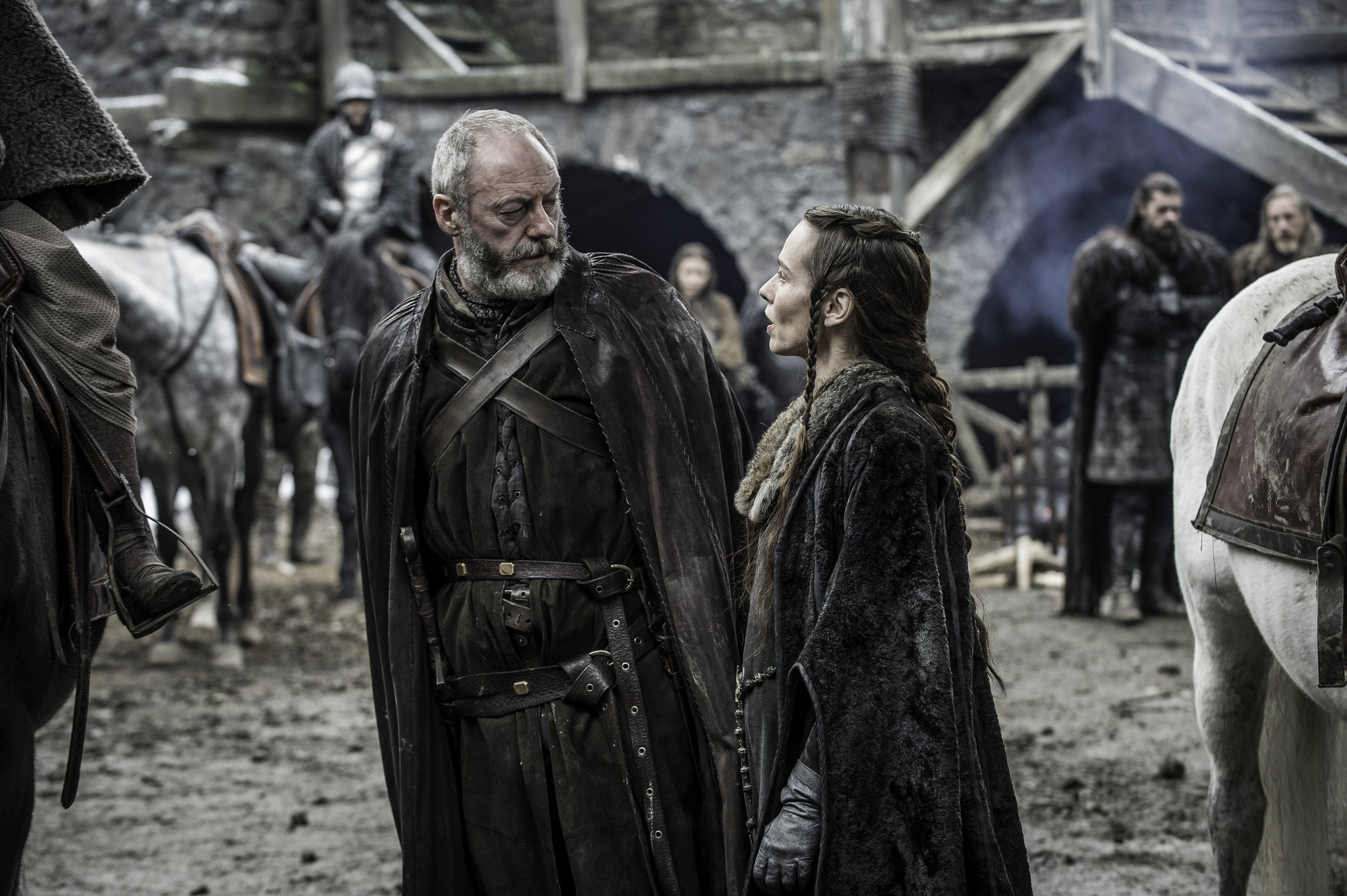 Davos Seaworth and Selyse Baratheon, Game of Thrones