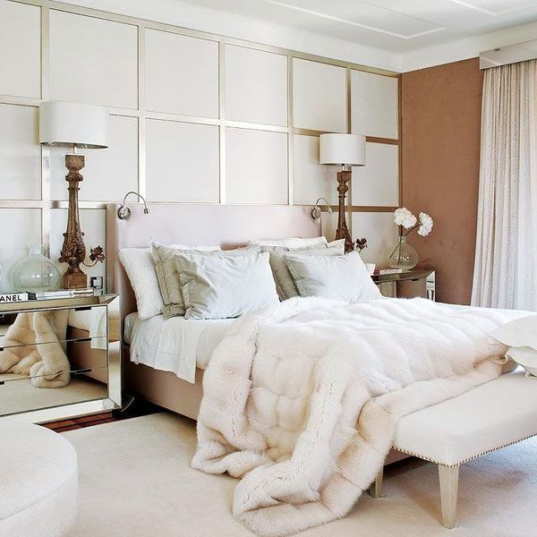 Delightful Gorgeous Winter Bedroom In White And Antique Gold With Mirrored Bedside  Tables | Home Decor Inspiration | Pinterest | Cozy, Bedrooms And Winter  Bedroom