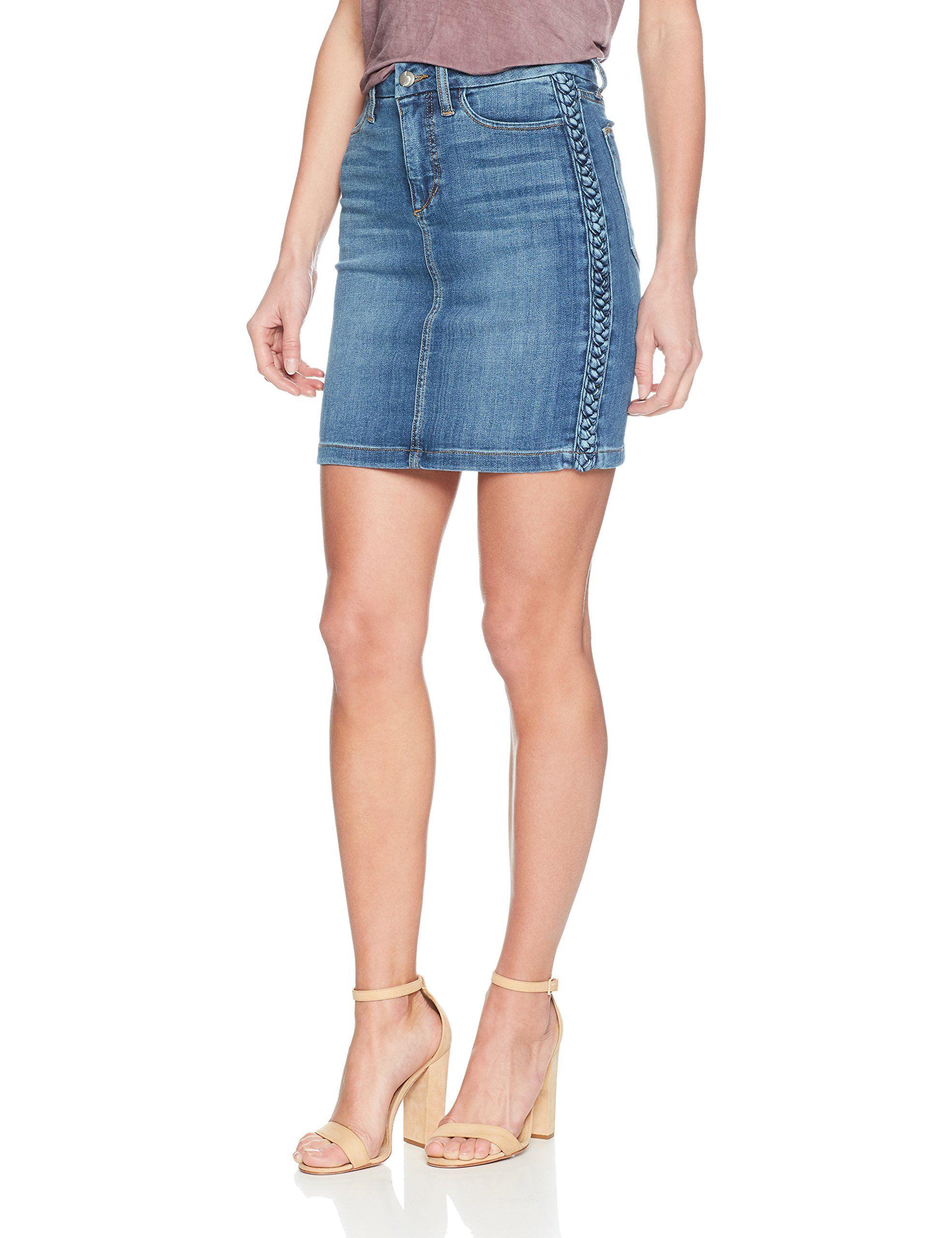 Joes Jeans Womens High Rise Cut Off Jean Skirt